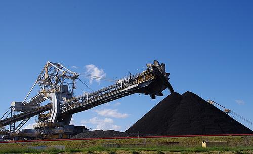 photo of coal mining