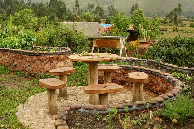 organic garden landscape