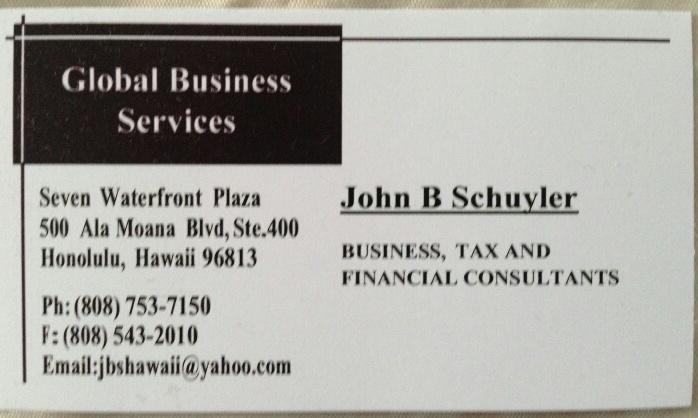 John Schuyler business card...why no website?