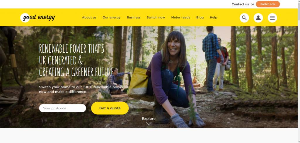 Good Energy Home Page