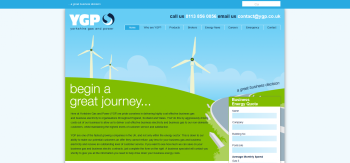 Yorkshire Gas and Power screenshot